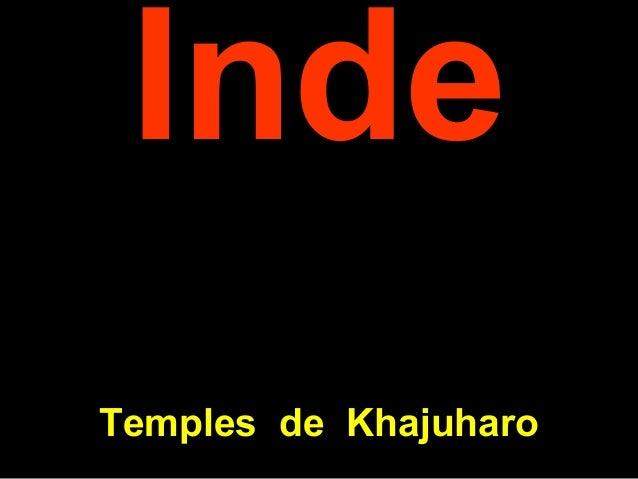 Inde Temples de Khajuharo