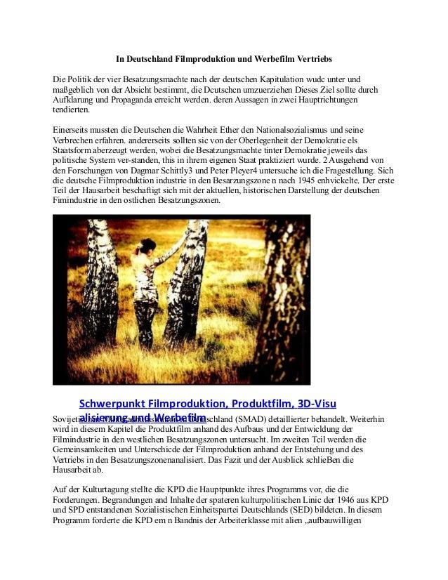 In Deutschland Filmproduktion und Werbefilm Vertriebs Die Politik der vier Besatzungsmachte nach der deutschen Kapitulatio...