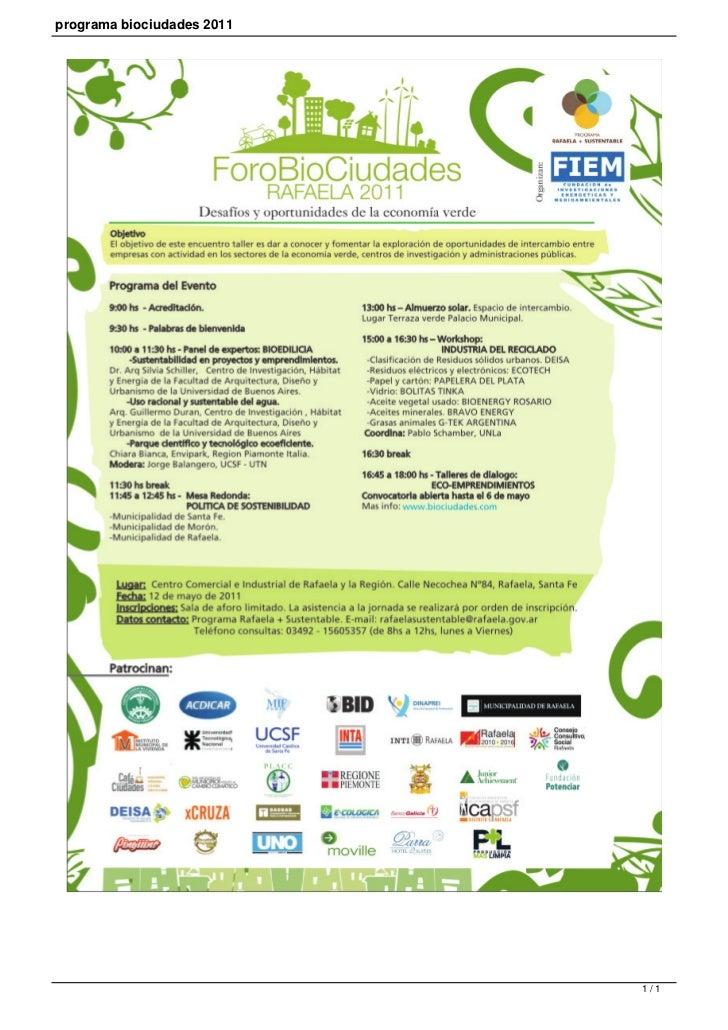 programa biociudades 2011                            1/1