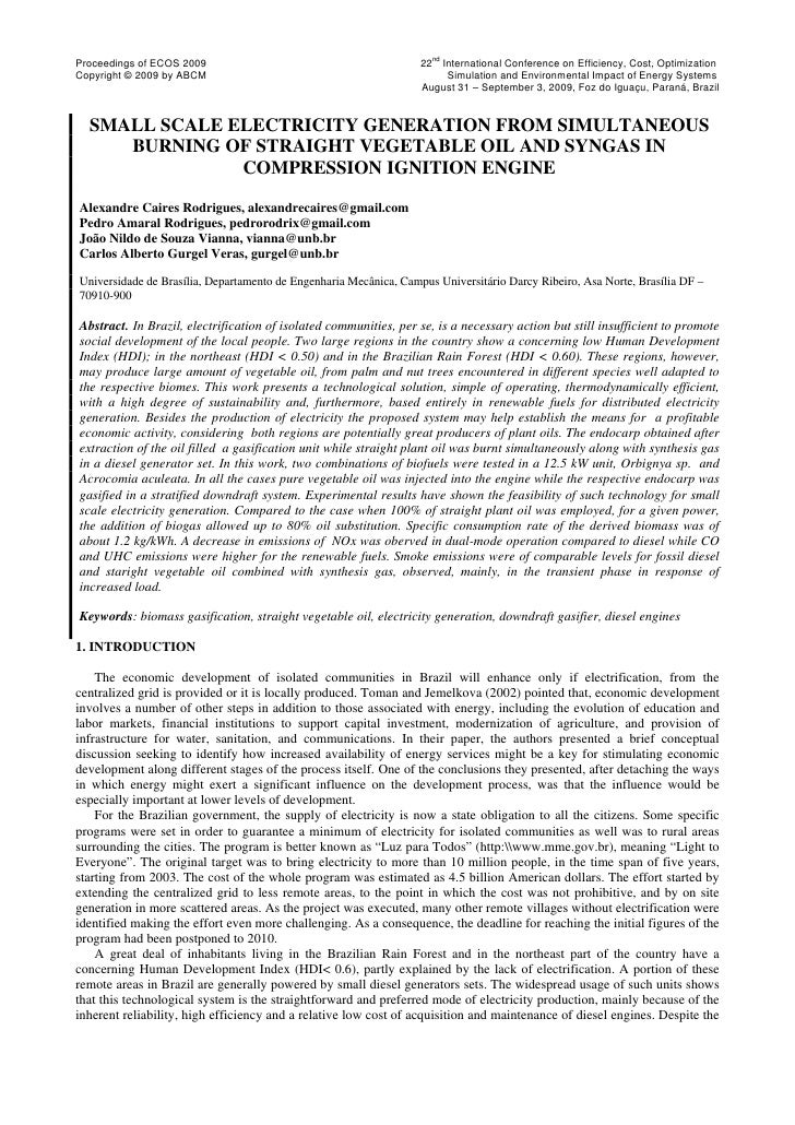 ndProceedings of ECOS 2009                                           22 International Conference on Efficiency, Cost, Opti...