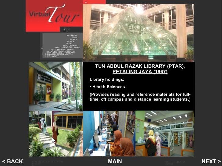 Welcome Tun Abdul Razak Library Ptar Virtual Tour