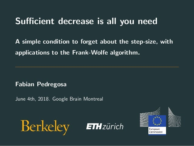 Sufficient decrease is all you need A simple condition to forget about the step-size, with applications to the Frank-Wolfe a...