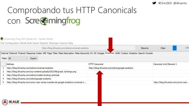 #ClinicSEO @ikhuerta Comprobando tus HTTP Canonicals con