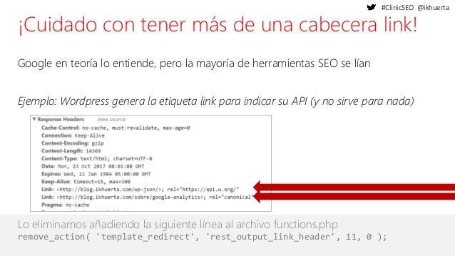 #ClinicSEO @ikhuerta ¡Cuidado con tener más de una cabecera link! Google en teoría lo entiende, pero la mayoría de herrami...