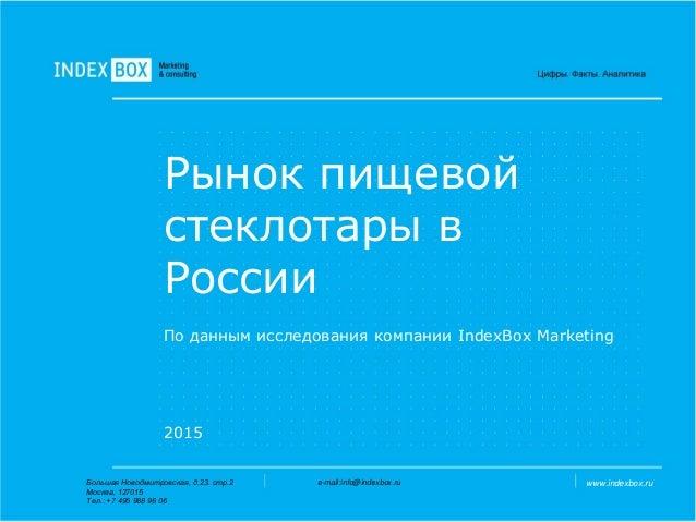 Число Пи Detail: исследование рынка пищевой стеклотары в россии Index Box