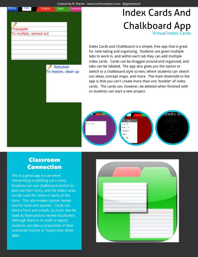 Index Cards and Chalkboard App Review