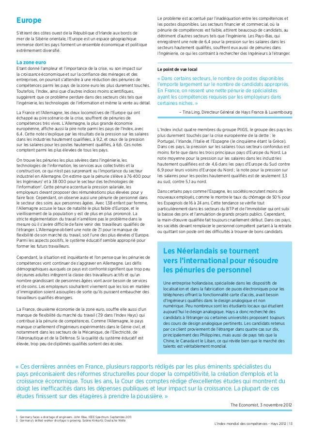 L'Index mondial des compétences - Hays 2012 | 13EuropeS'étirant des côtes ouest de la République d'Irlande aux bords demer...