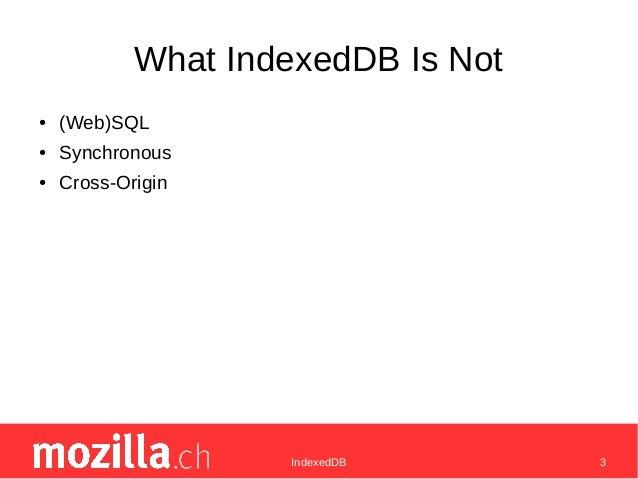 Indexed db Slide 3