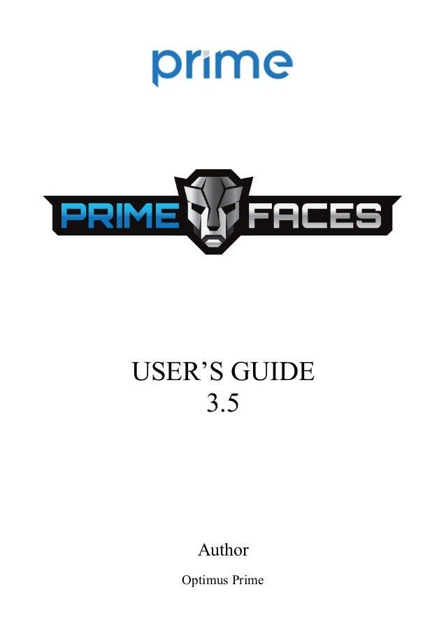 USER'S GUIDE 3.5  Author Optimus Prime