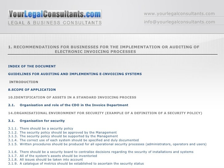 index document electronic invoicement