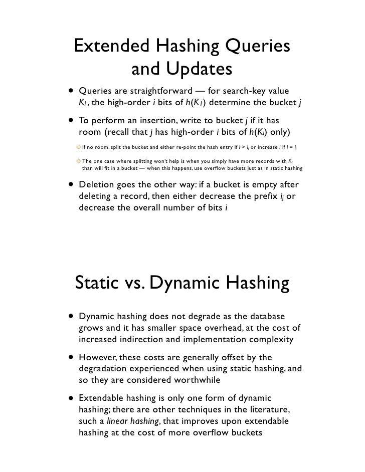 Dynamic hashing example.