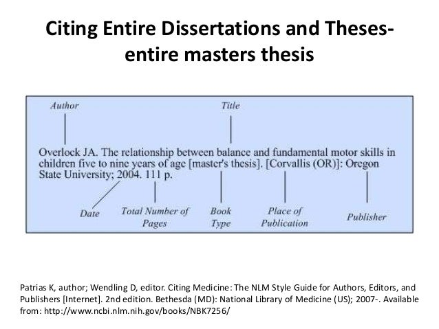Phd no thesis citation style
