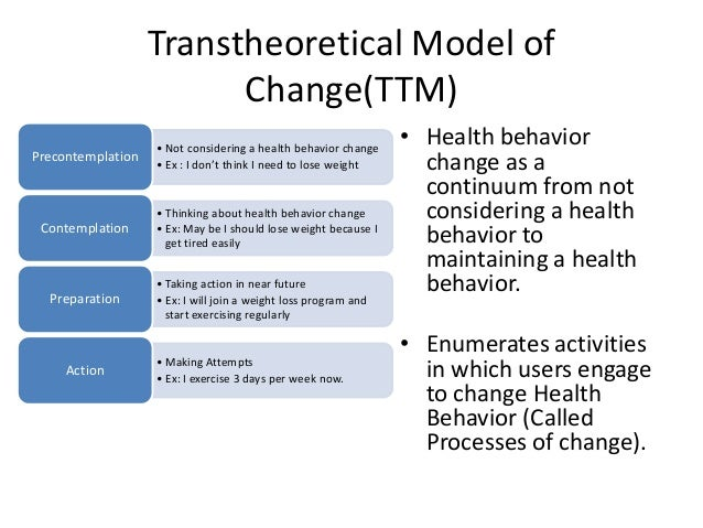 stage models in health promotion Stage models in health promotion models and to understand the concept of health promotion the health education resource chosen by the author is.