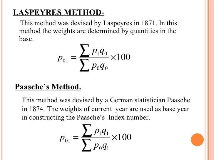 types of index numbers pdf
