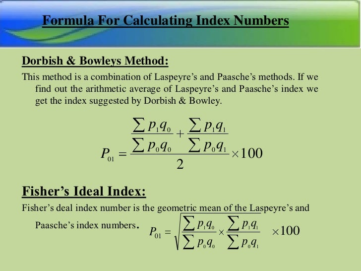 calculation method index Edit article how to calculate cpi two methods: making a sample calculation of the cpi calculating price changes for a single item community q&a the consumer price index (cpi) is a measure of changes in product costs over a specific time period, and it is used as both an indicator of the cost of living and economic growth.