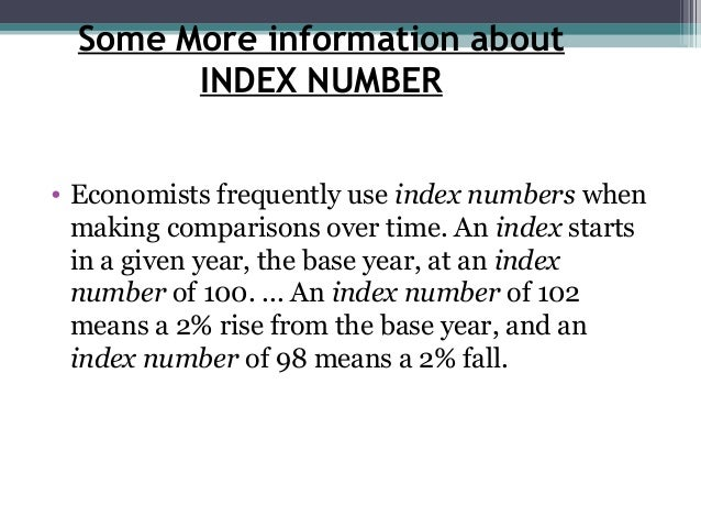 class 11 economics introduction to index numbers