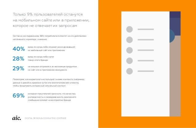 DIGITAL DESIGN & CONSULTING COMPANY Согласно исследованиям, 66% потребителей ответят на это действиями негативного характе...