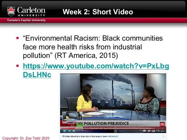 "Week 2: Short Video § ""Environmental Racism: Black communities face more health risks from industrial pollution"" (RT Ameri..."
