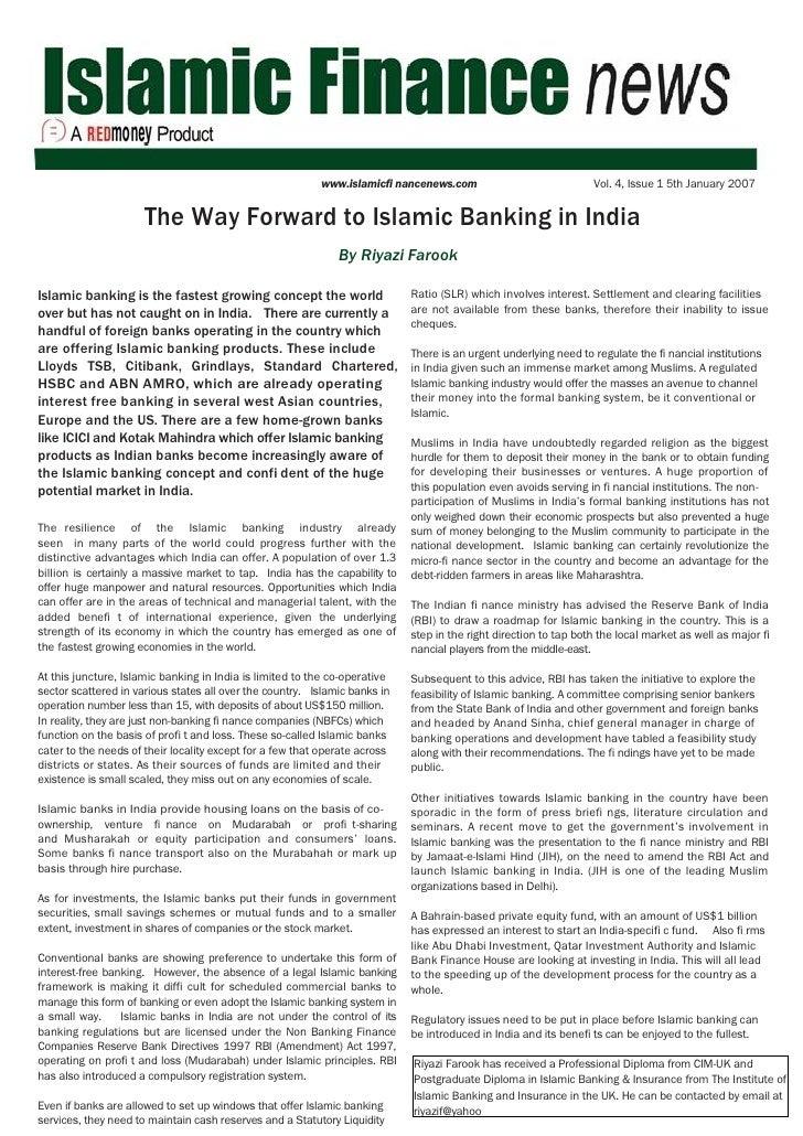 www.islamicfi nancenews.com                             Vol. 4, Issue 1 5th January 2007                         The Way F...