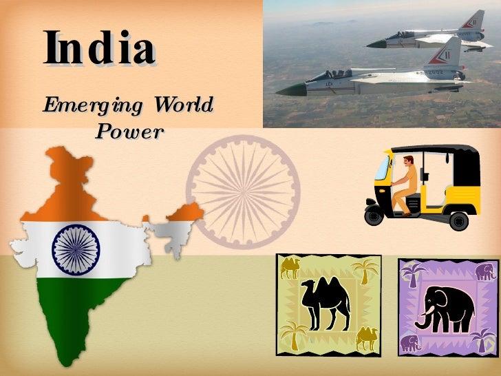 India Emerging World Power