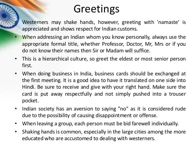 India culture greetings westerners m4hsunfo