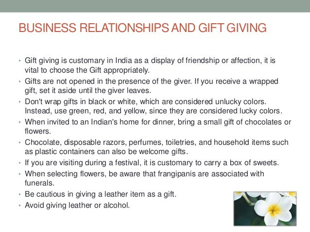 International Gift Giving Etiquette - India