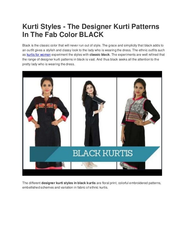 Kurti Styles The Designer Kurti Patterns In The Fab Color
