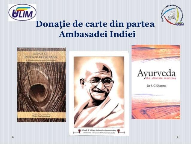 Donaţie de carte din partea Ambasadei Indiei