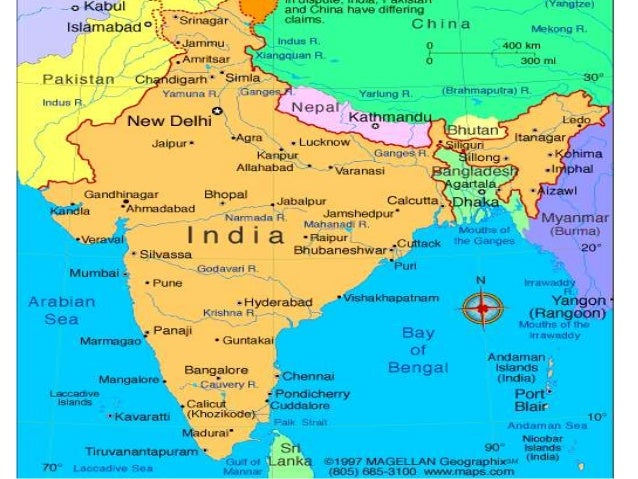 Mumbai On Map Of Asia.Geography South Asia India