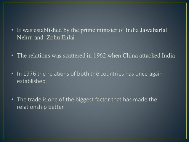 india china relationship India-china relationship - free download as word doc (doc), pdf file (pdf), text file (txt) or read online for free.