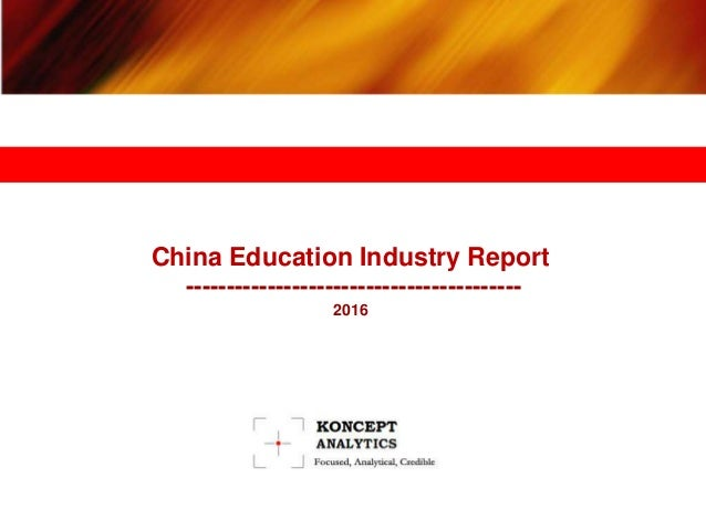 education industry in india 2016 pdf