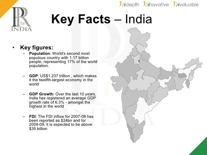 Key Facts – India Key figures: Population : World's second most ...
