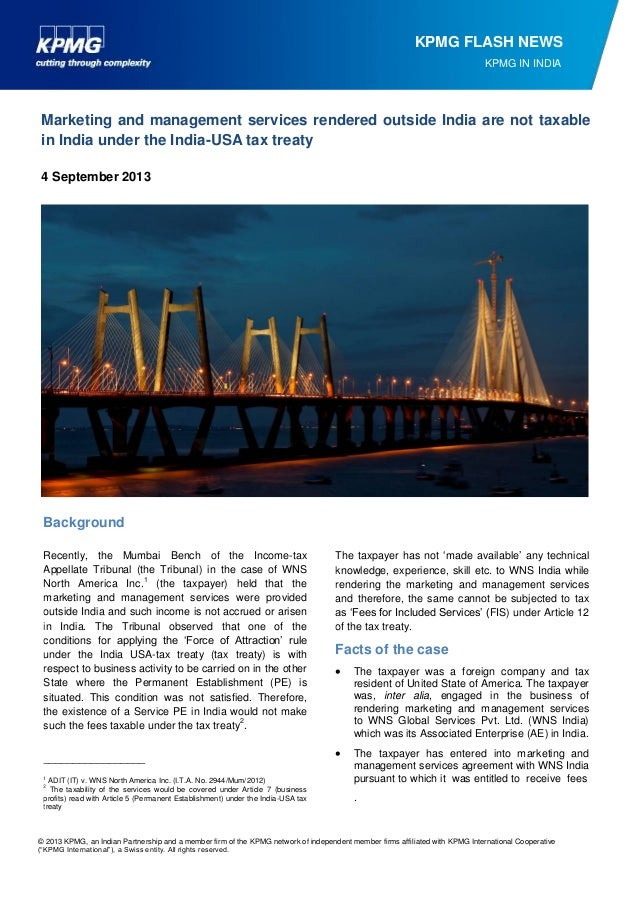 © 2013 KPMG, an Indian Partnership and a member firm of the KPMG network of independent member firms affiliated with KPMG ...