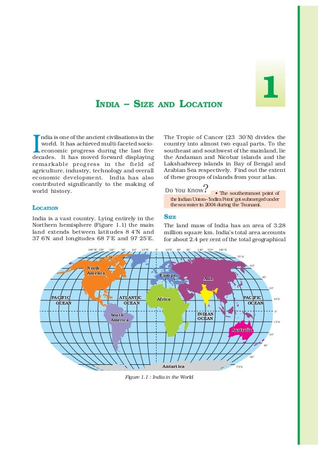 INDIA – SIZE                            AND       LOCATION                                                                ...