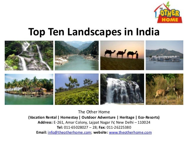 Top Ten Landscapes in IndiaThe Other Home(Vacation Rental | Homestay | Outdoor Adventure | Heritage | Eco-Resorts)Address:...