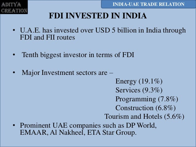fdi in uae Economic trends in the united arab emirates snapshot of dubai and the uae economy and market trends 6economic history of dubai 8trends and developments such a meteoric rise has led to the city being ranked as the top foreign direct investment destination by the fdi.