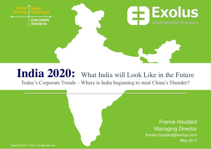 """essays on the future of india in 2020 Essay, future, india let's come together and pave the way for future generations, making india a one thought on """" essay : vision 2050 for india."""