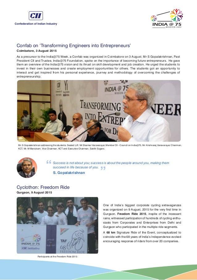 India@75 newsletter Sep 2015 Slide 2