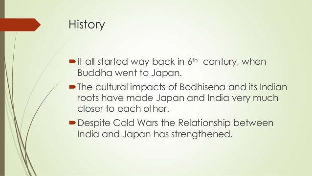 cultural relationship between india and japan