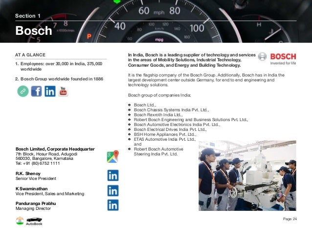 Section 2 Other German Tier 1 Companies Page 25 The full version of the India AutoBook includes profiles of the following C...