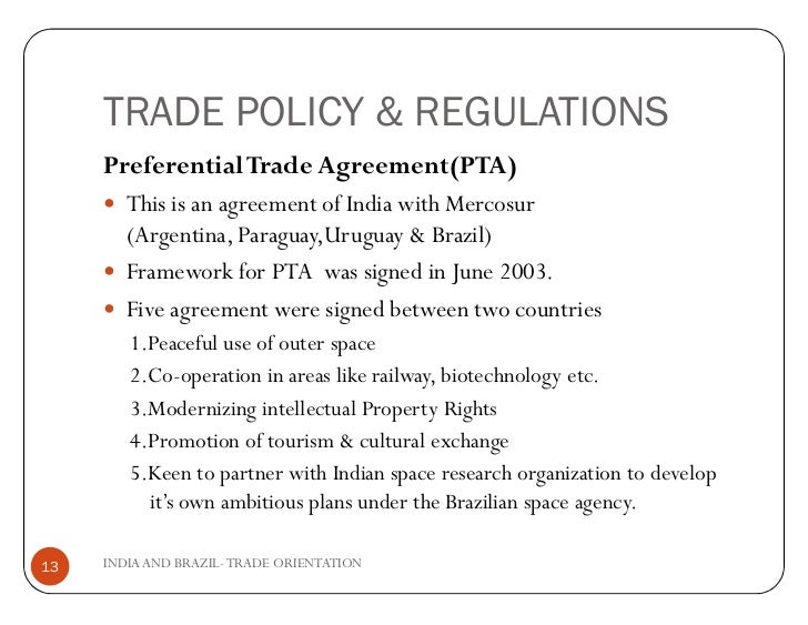 India Brazil Trade Relations
