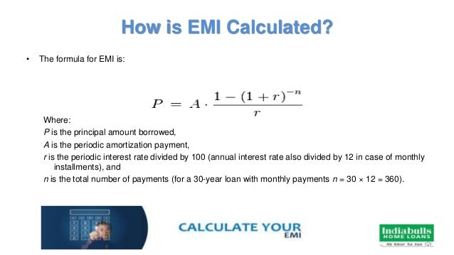 home loan emi calculator indiabulls housing finance limited