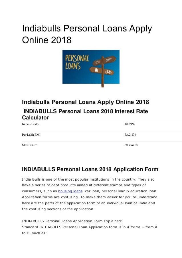 Indiabulls Personal Loans Apply Online 2018 Indiabulls Personal Loans Apply Online 2018 INDIABULLS Personal Loans 2018 Int...