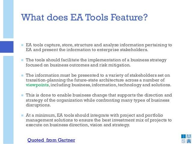 essentials of enterprise architecture tools