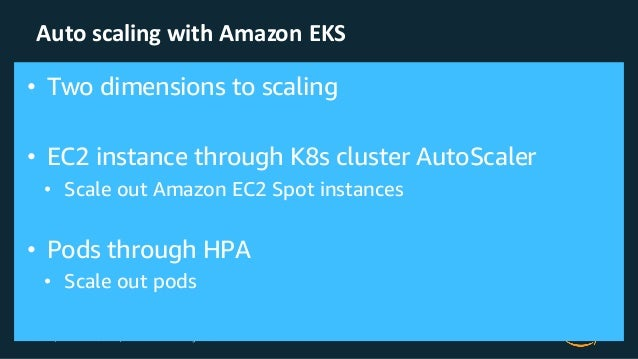 © 2019, Amazon Web Services, Inc. or its Affiliates. All rights reserved. Amazon Confidential Auto scaling with Amazon EKS...