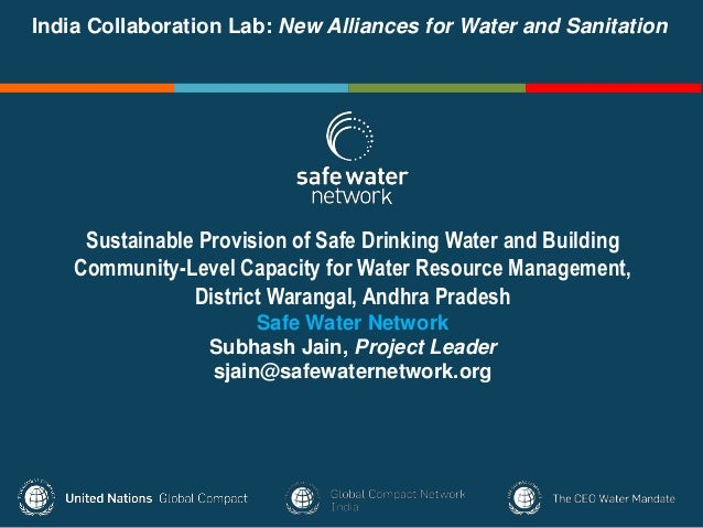 New Alliances for Water and Sanitation- India Collaboration