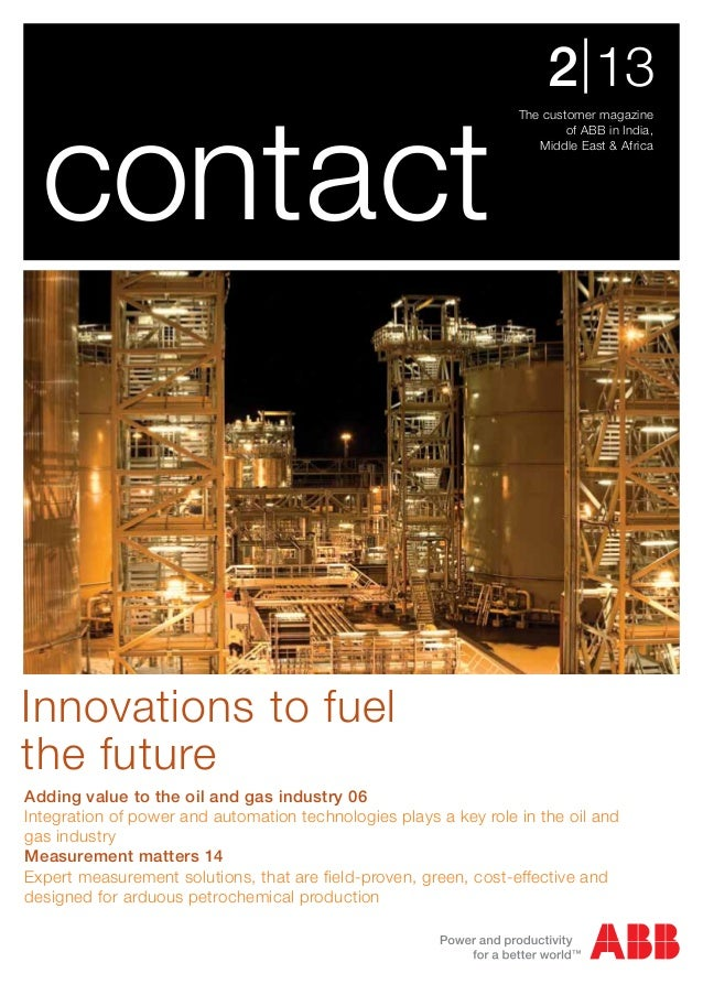 ABB Contact - 2/13 India : Oil and Gas issue