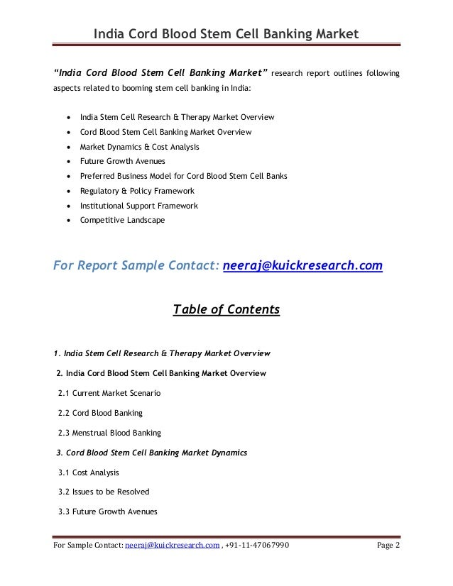 Cord Blood Banking Cost >> Download India cord blood stem cell banking market