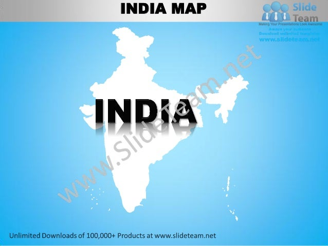 india country editable powerpoint maps with states and