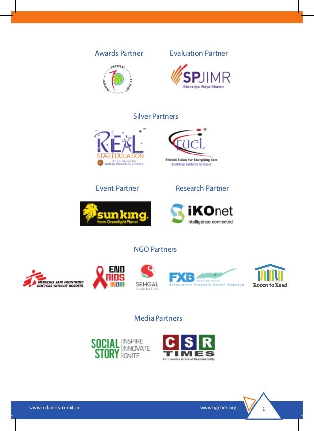 India CSR Summit 2016 Brochure Slide 2